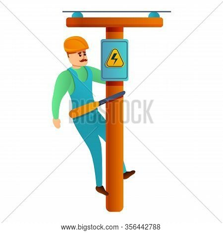 Electric Maintenance Icon. Cartoon Of Electric Maintenance Vector Icon For Web Design Isolated On Wh