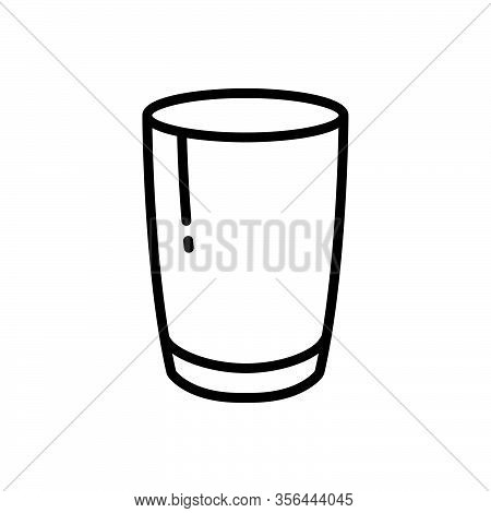 Black Line Icon For Glass Sandblast Glasswork Water-glass Mug Drink Aqua Fragile