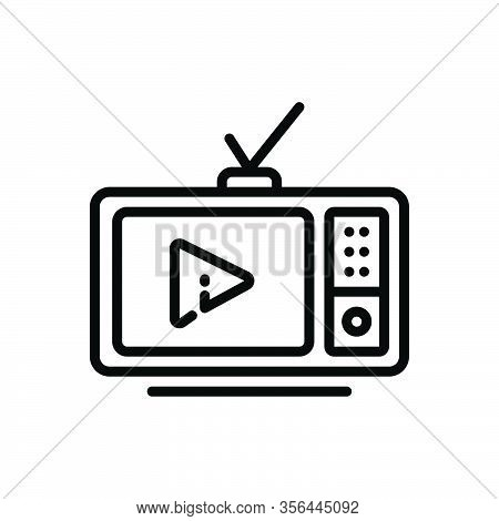 Black Line Icon For Ad Antenna Old Advertising Video Television-ads Television Ads Advertisement Bro