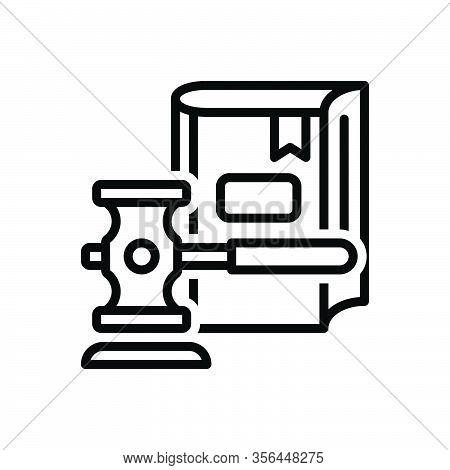 Black Line Icon For Legislation Hammer Book Justice Syllogism Rectitude Law Legal Legislation