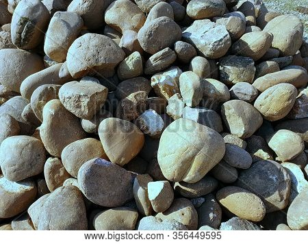 Stones On Ground A View In Asia Called Pather.natural Stone Is Used As Architectural Stone (construc