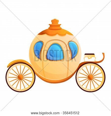 Cinderella Carriage Icon. Cartoon Of Cinderella Carriage Vector Icon For Web Design Isolated On Whit