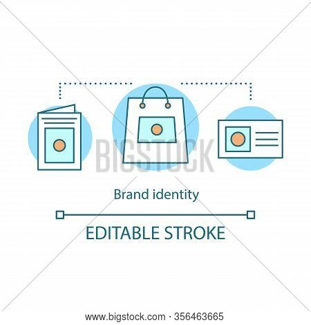 Brand Identity Concept Icon. Corporate Style. Branding Idea Thin Line Illustration. Templates And Br