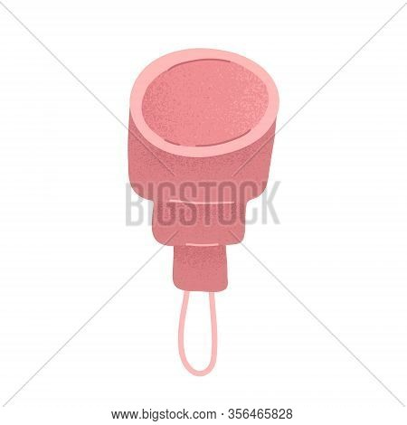 Silicone Menstrual Cup. Cartoon Vector Illustration Icon, Isolated Illustration, Reusable Hygiene Pr