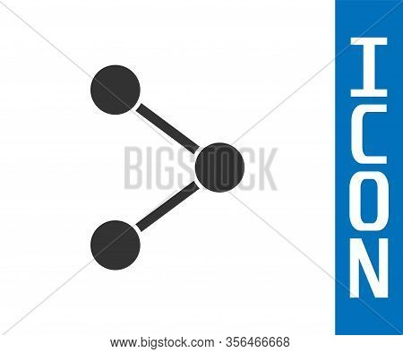 Grey Share Icon Isolated On White Background. Share, Sharing, Communication Pictogram, Social Media,