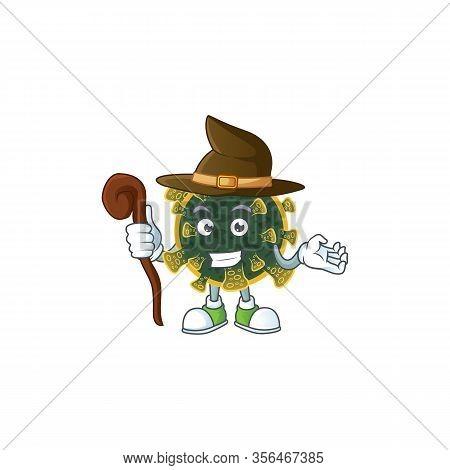 Sweet And Tricky Witch New Coronavirus Cartoon Character