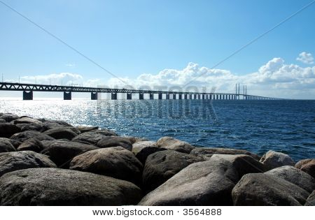 Oresund Bridge In Scandinavia