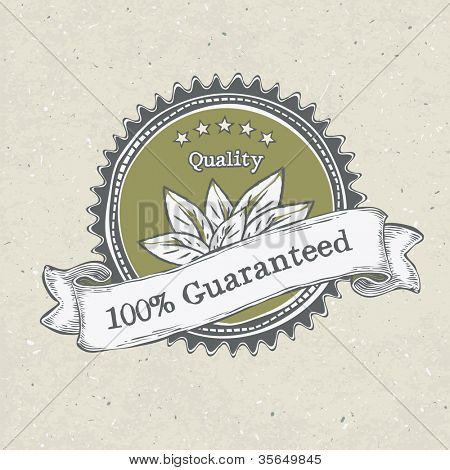 Vintage label organic products. Raster version, vector file available in portfolio