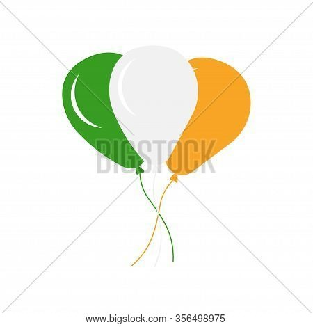 Illustration Irish Colorful Balloons For St. Patrick's Day - Vector - Vector