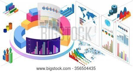 Various visualisation at trading environment 3d rendering