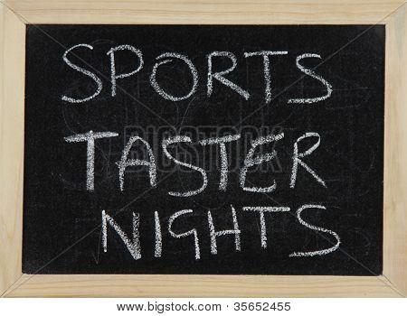 Sports Taster Nights.