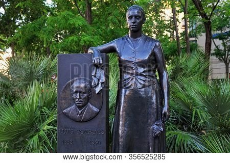 Barcelona, Spain - May 15, 2017: Monument Of The Memory Of Politician Lluis Companys And His Friend