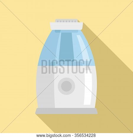 Comfort Air Purifier Icon. Flat Illustration Of Comfort Air Purifier Vector Icon For Web Design