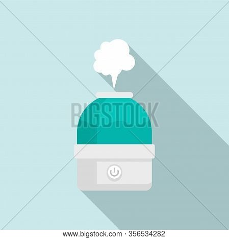 Vapor Air Purifier Icon. Flat Illustration Of Vapor Air Purifier Vector Icon For Web Design