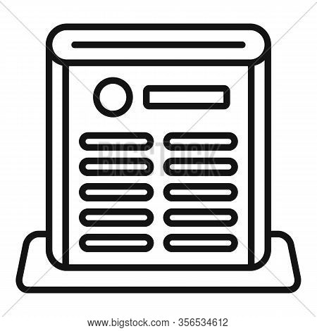 Air Purifier Care Icon. Outline Air Purifier Care Vector Icon For Web Design Isolated On White Backg