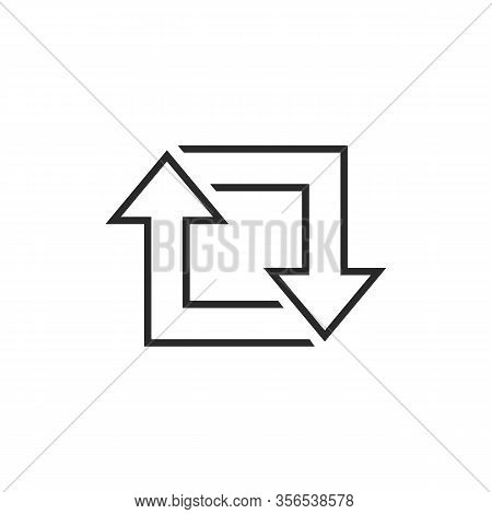 Repost Line Icon Set, Repost Symbol, Repost Sign. Vector Illustration