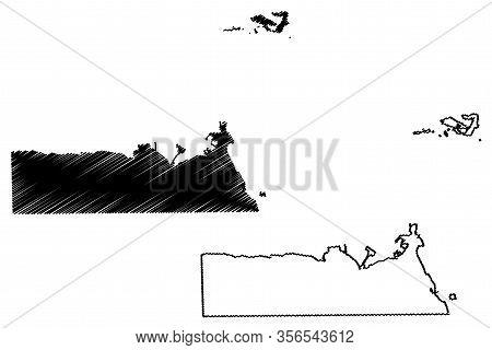 Djibouti Region (republic Of Djibouti, Horn Of Africa, Gulf Of Aden) Map Vector Illustration, Scribb