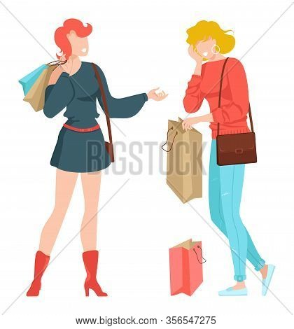 Friends Together, Young People Taking Selfie In Phone For Instagram Or Social Media Vector Illustrat