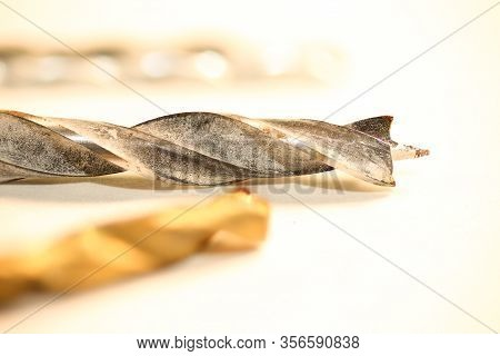 Isolated Selection Of Drill Bits. Macro Drill Bits.