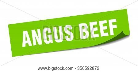 Angus Beef Sticker. Angus Beef Square Isolated Sign. Angus Beef