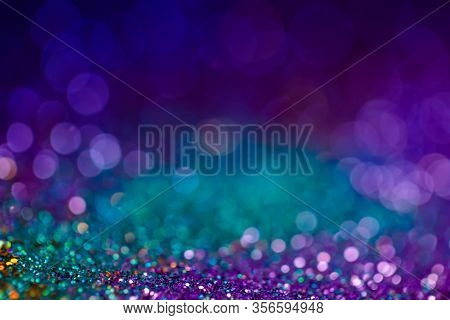 Festive Bokeh Glitters Background, Abstract Shiny Backdrop With Circles, Modern Design Overlay With