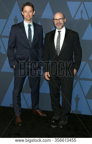 LOS ANGELES - OCT 27:  Scott Z Burns, Daniel Jones at the Governors Awards at the Dolby Theater on October 27, 2019 in Los Angeles, CA