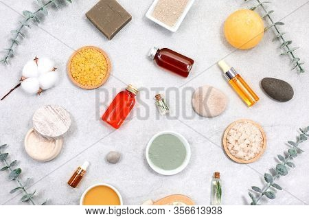 Beauty Concept With Spa Set And Natural Cosmetic