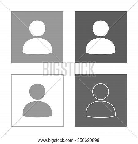 Default Avatar Icon Set, Profile Portrait Vector