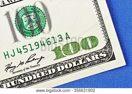 A Hundred-dollar American Note Is A Federal Reserve Ticket Of The United States . Currency Is An Equ