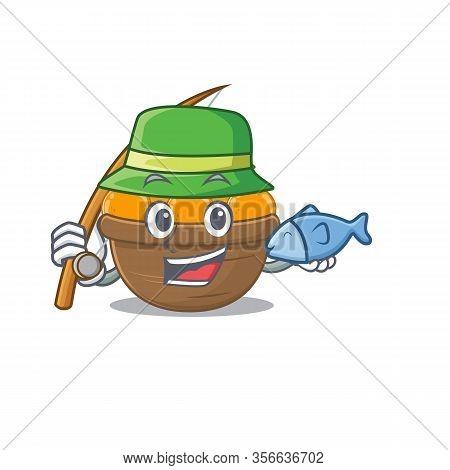 A Picture Of Funny Fishing Orange Fruit Basket Design