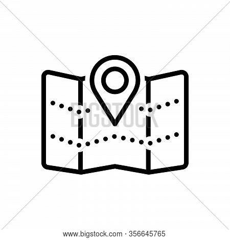 Black Line Icon For Territory Area-of-land Jurisdiction Navigation Gps Area Region Zone Scope Realm