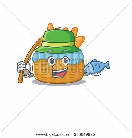 A Picture Of Funny Fishing Bread Basket Design