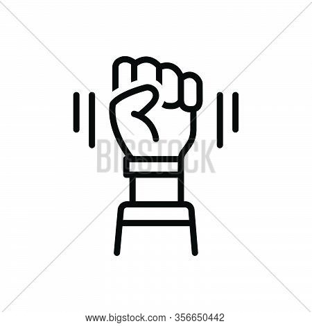 Black Line Icon For Opposition Sloganeering Protest Antagonism Friction Fight Freedom Hindrance Inte