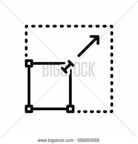 Black Line Icon For Spread Expansion Elaboration Diffusion Spreading Proliferation Dissemination Pre