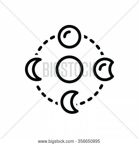 Black Line Icon For Gradually Slowly Systematically Galaxy Planet Space Cosmos Astronomy