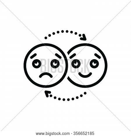 Black Line Icon For Emotion Affection Feeling Indoctrination Reverie Sentiment Sensibility