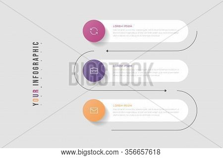 Infographic Business Concept With 5 Options Or Steps. Can Be Used For Info Graphics, Flow Charts, Pr
