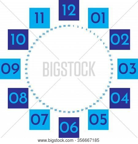 Clock Dial Enormous Numbers In Square Hourly Blue On Blue Blue 2020 Seconds On Transparent Backgroun