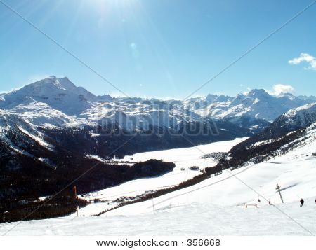 Mountains In St Moritz