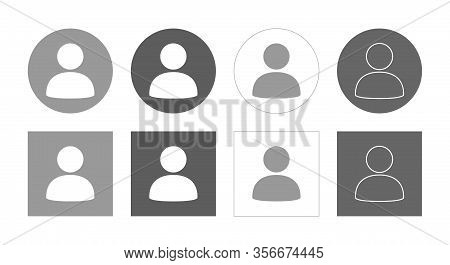 Default Avatar Social Media Icon Vector, Unknown Profile Illustration