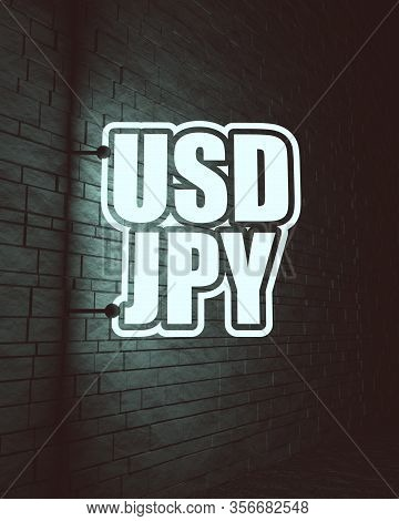 Financial Market Trading Concept. Currency Pair. Acronym Jpy - Japanese Yen Currency. Acronym Usd -