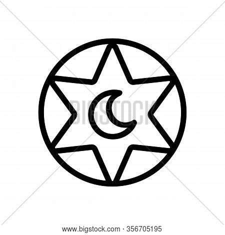 The Symbol Of Mysticism Icon Vector. The Symbol Of Mysticism Sign. Isolated Contour Symbol Illustrat