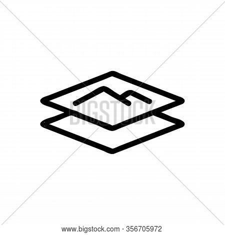 Soft Layer Icon Vector. Soft Layer Sign. Isolated Contour Symbol Illustration
