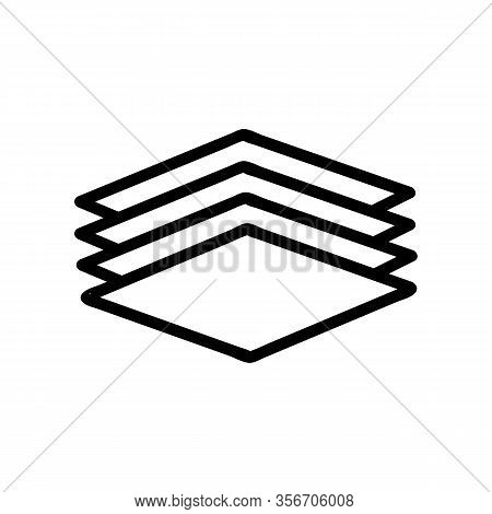 A Layered Composition Icon Vector. A Layered Composition Sign. Isolated Contour Symbol Illustration