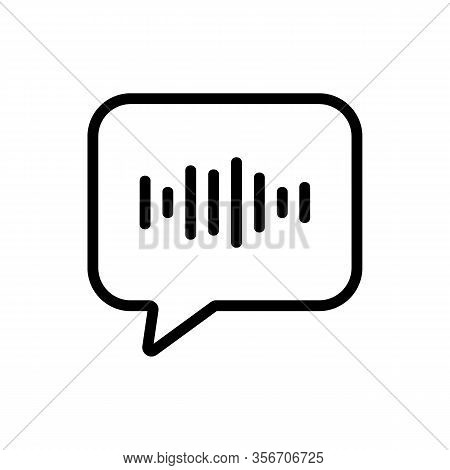 Wave Sound Icon Vector. Wave Sound Sign. Isolated Contour Symbol Illustration