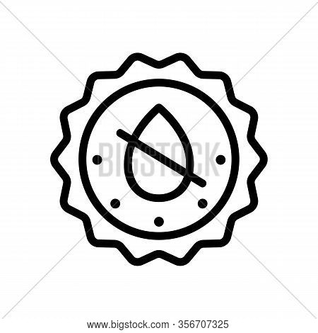 Does Not Contain Liquid Icon Vector. Does Not Contain Liquid Sign. Isolated Contour Symbol Illustrat