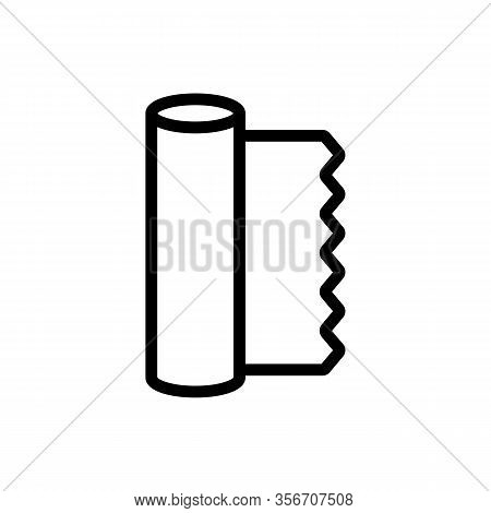 Roll Foil Icon Vector. Roll Foil Sign. Isolated Contour Symbol Illustration