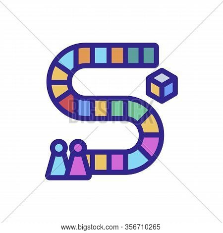 Board Game Icon Vector. Board Game Sign. Color Isolated Symbol Illustration