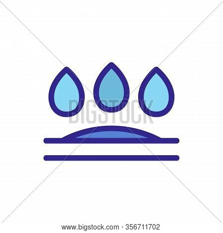 The Penetration Of Moisture Icon Vector. The Penetration Of Moisture Sign. Color Isolated Symbol Ill