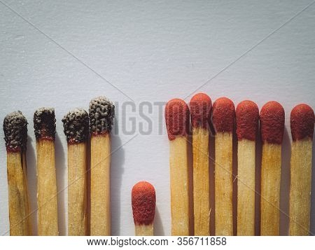 Matchsticks Burn, One Piece Prevents The Fire From Spreading - The Concept Of How To Stop The Corona